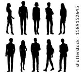 vector silhouettes of  men and... | Shutterstock .eps vector #1589152645