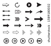arrows vector collection black... | Shutterstock .eps vector #1589180032