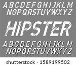 handwritten vector calligraphic.... | Shutterstock .eps vector #1589199502