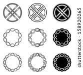 celtic knot elements  models...   Shutterstock .eps vector #158920265