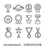 set of award and prize line... | Shutterstock .eps vector #1589203198