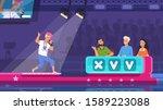 tv talent show. cartoon song... | Shutterstock .eps vector #1589223088
