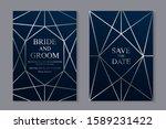 set of modern geometric luxury...   Shutterstock .eps vector #1589231422