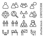 simple set of business people... | Shutterstock .eps vector #1589255308