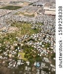 Aerial View Of An Impoverished...