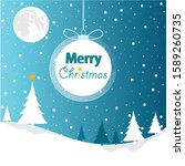 merry christmas greeting card.... | Shutterstock .eps vector #1589260735