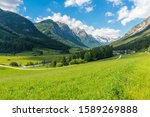 Mighty Alpine peaks near small town Trins - not far from Brenner pass - in Austria.