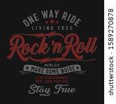 music rock typography  tee... | Shutterstock .eps vector #1589270878