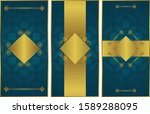 set of three templates for... | Shutterstock .eps vector #1589288095