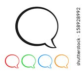 talk bubble   speech balloon... | Shutterstock .eps vector #158928992