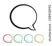 talk bubble   speech balloon... | Shutterstock .eps vector #158928992