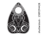 planchette for spirit talking...   Shutterstock .eps vector #1589294428