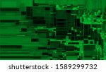 vector green rectangle shapes...