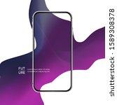 silver phone case. curve line...