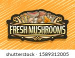 Logo For Fresh Mushrooms  Black ...