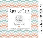 invitation or announcement card | Shutterstock .eps vector #158932718