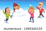 kids girls  boys friends...   Shutterstock .eps vector #1589360155
