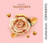 happy valentine's day....   Shutterstock .eps vector #1589368552