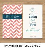 wedding card invitation... | Shutterstock .eps vector #158937512