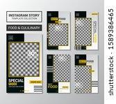 culinary menu social media... | Shutterstock .eps vector #1589386465