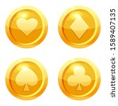 set game coins card suits of...