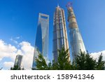 Small photo of SHANGHAI, CHINA - SEP 17: Shanghai World Financial Center pudong shanghai china on Sep 17, 2013 in Shanghai, Designed by Kohn Pedersen Fox, this 101 storey building completed in 2008 is 494,3m high