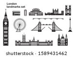 vector set of  landmarks of... | Shutterstock .eps vector #1589431462