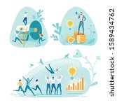 employees greeting idea their... | Shutterstock .eps vector #1589434762