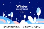 winter season background with...