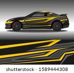 car wrap decal design vector ...   Shutterstock .eps vector #1589444308