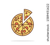 simple pizza icon design for...