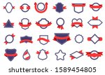 vintage badges and ribbons.... | Shutterstock .eps vector #1589454805