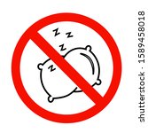 no sleep icon in flat style. no ...