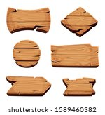 wooden banners. empty sign... | Shutterstock .eps vector #1589460382