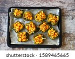 Baked Peppers Stuffed With...