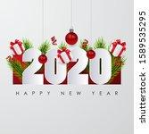 happy new 2020 year. festive... | Shutterstock .eps vector #1589535295