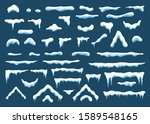 snow cap with icicle ornament... | Shutterstock .eps vector #1589548165