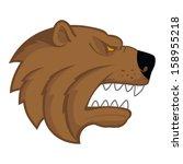 bear head logo on white...   Shutterstock .eps vector #158955218