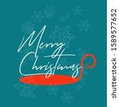 merry christmas background... | Shutterstock .eps vector #1589577652