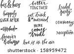 wedding set   Shutterstock .eps vector #158959472
