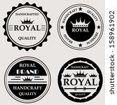 vintage royal quality handcraft ... | Shutterstock .eps vector #158961902