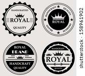 vintage royal quality handcraft ...   Shutterstock .eps vector #158961902