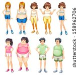 adults,attire,background,boys,bulging,cartoon,clip-art,clipart,drawing,fat,female,gentlemen,girls,graphic,group