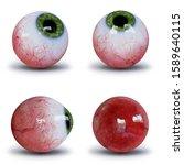 Set of human eyeballs with...