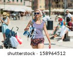 girl going to the beach | Shutterstock . vector #158964512