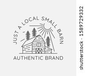 Barn Outline Logo Design Vector ...