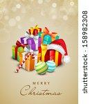 beautiful merry christmas...   Shutterstock .eps vector #158982308