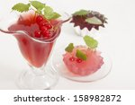 red currant jelly with lemon... | Shutterstock . vector #158982872