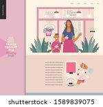 frozen yoghurt bar   small...   Shutterstock .eps vector #1589839075