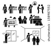 property agent real estate... | Shutterstock .eps vector #158987552